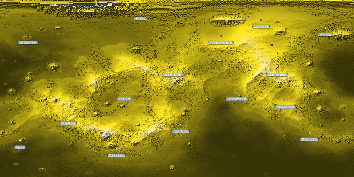Surface map of Infernus.